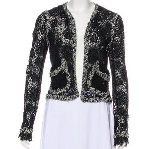 Chanel Tweed Lace Jacket Size 36